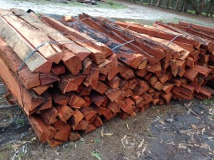 Jarrah Fence Posts - 02